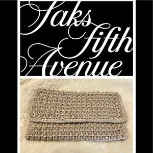 Vintage Saks Fifth Avenue Italy Clutch Bag